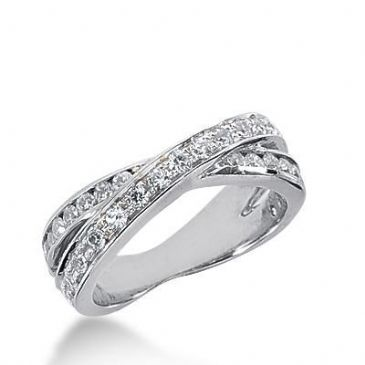 14k Gold Diamond Anniversary Wedding Ring 32 Round Brilliant Diamonds Total 0.64ctw 416WR170714K