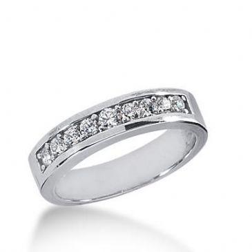 14k Gold Diamond Anniversary Wedding Ring 9 Round Brilliant Diamonds Total 0.38ctw. 429WR175314K