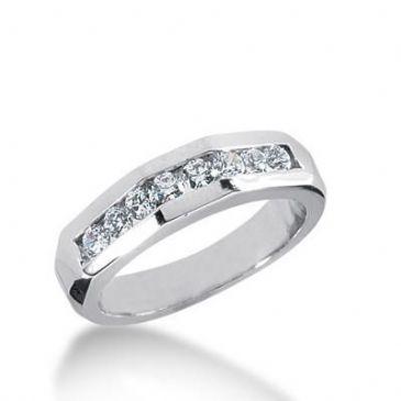 14k Gold Diamond Anniversary Wedding Ring 8 Round Brilliant Diamonds Total 0.40 ctw. 433WR177414K