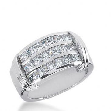 14k Gold Diamond Anniversary Wedding Ring 21 Princess Cut Total 1.47ctw 439WR179114k