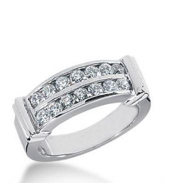 14k Gold Diamond Anniversary Wedding Ring 14 Round Stone 0.05 ct  Total 0.70 ctw. 440WR179214k