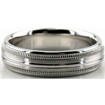 18K Gold 5.5mm Diamond Cut Wedding Band 684
