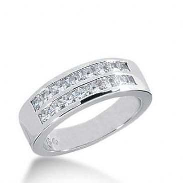 14k Gold Diamond Anniversary Wedding Ring 18 Princess Cut 0.05 ct Total 0.90ctw 458WR182514k