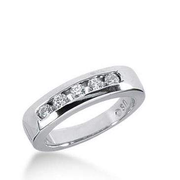 14k Gold Diamond Anniversary Wedding Ring 5 Round Brilliant Diamonds Stones Total 0.25ctw 461WR184414k