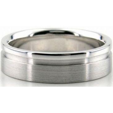 18K Gold 6mm Diamond Cut Wedding Band 674