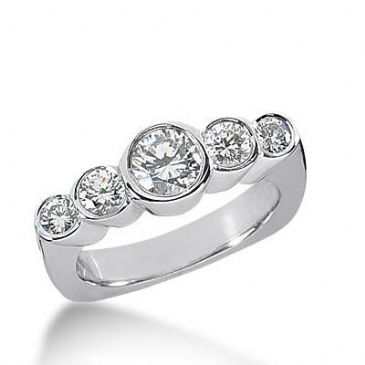 14k Gold Diamond Anniversary Wedding Ring 4 Round Brilliant Diamonds Total 0.64ctw 477WR193514k