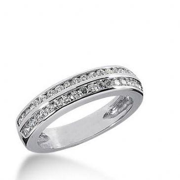 14k Gold Diamond Anniversary Wedding Ring 36 Round Brilliant Diamonds 0.015 ct Total 0.54ctw. 494WR202014k