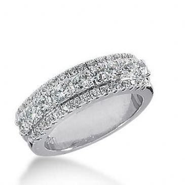 14k Gold Diamond Anniversary Wedding Ring 39 Round Brilliant Diamonds Total 1.02ctw 496WR202614k