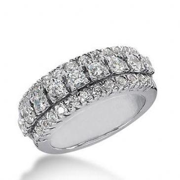 14k Gold Diamond Anniversary Wedding Ring 35 Round Brilliant Diamonds Total 1.55ctw 497WR202714k