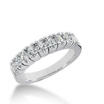 14k Gold Diamond Anniversary Wedding Ring 9 Round Brilliant Diamonds Total 0.63ctw 498WR202814k