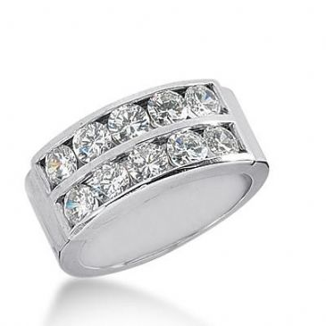 14k Gold Diamond Anniversary Wedding Ring 10 Round Brilliant Diamonds Total 1.70ctw 501WR203214k