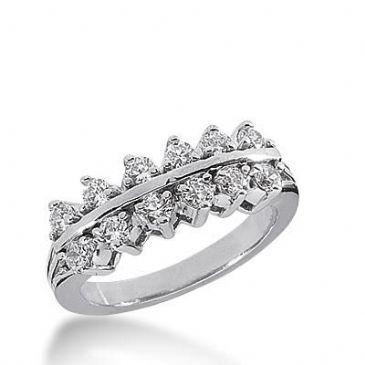 14k Gold Diamond Anniversary Wedding Ring 12 Round Brilliant Diamonds Total 0.72ctw 504WR203814k