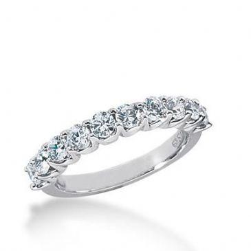 14k Gold Diamond Anniversary Wedding Ring 10 Round Brilliant Diamonds Total 1.00ctw 520WR208614k