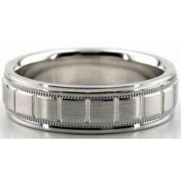 18K Gold 6.5mm Diamond Cut Wedding Band 608