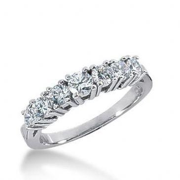 14k Gold Diamond Anniversary Wedding Ring 7 Round Brilliant Diamonds Total 1.62ctw 524WR209614k