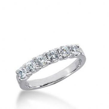 14k Gold Diamond Anniversary Wedding Ring 6 Round Brilliant Diamonds Total 0.60ctw 529WR210914k