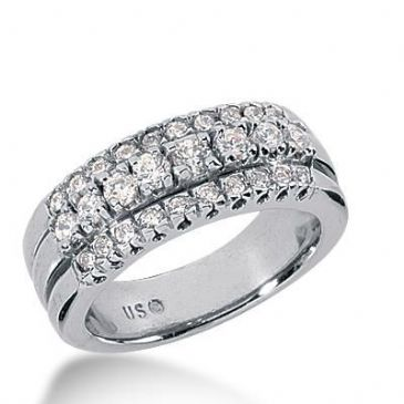 14k Gold Diamond Anniversary Wedding Ring 28 Round Brilliant Diamonds Total 0.72ctw 538WR212614k