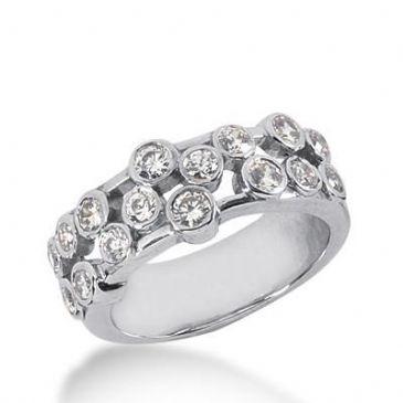 14k Gold Diamond Anniversary Wedding Ring 16 Round Brilliant Diamonds Total 0.56ctw 542WR213314k