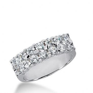 14k Gold Diamond Anniversary Wedding Ring 14 Round Brilliant Diamonds Total 1.40ctw 545WR213614k