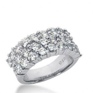 14k Gold Diamond Anniversary Wedding Ring 27 Round Brilliant Diamonds Total 3.24ctw 549WR214414k