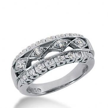 14k Gold Diamond Anniversary Wedding Ring 20 Round Brilliant Diamonds Total 0.40ctw 551WR215114k