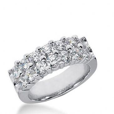 14k Gold Diamond Anniversary Wedding Ring 14 Round Brilliant Diamonds Total 2.10ctw 558WR218414k