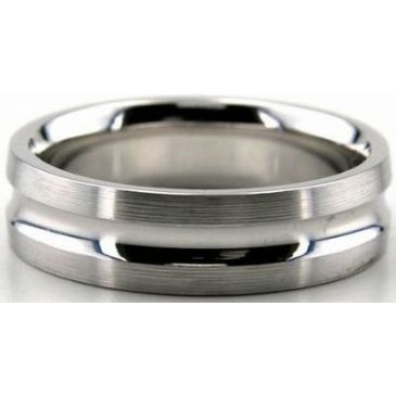 18K Gold 6mm Diamond Cut Wedding Band 657