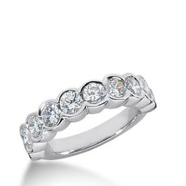 14k Gold Diamond Anniversary Wedding Ring 10 Round Brilliant Diamonds Total 2.00ctw 565WR228914k