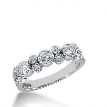 14k Gold Diamond Anniversary Wedding Ring 11 Round Brilliant Diamonds Total 0.65ctw 570W230014k