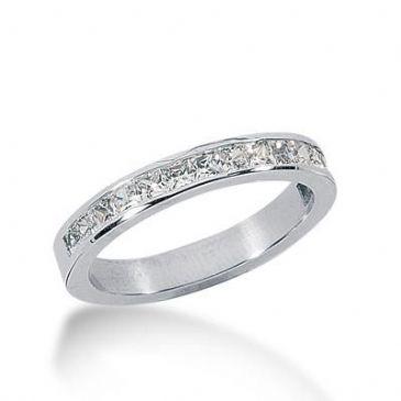 14k Gold Diamond Anniversary Wedding Ring 15 Princess Cut Stones Total 0.75ctw 571WR230414k