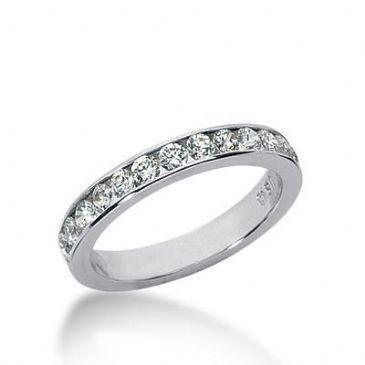 14k Gold Diamond Anniversary Wedding Ring 13 Round Brilliant Diamonds Total 0.65ctw 572WR230614k