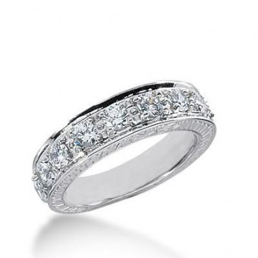 14k Gold Diamond Anniversary Wedding Ring 11 Round Brilliant Diamonds Total 1.10ctw 575WR231214k