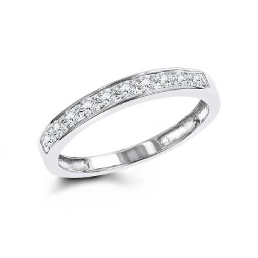 14K Gold & 0.36 carat Round Cut Diamond Wedding Ring for Women