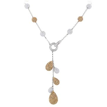 14K Gold & 23.9 Carat Diamond Ball Necklace