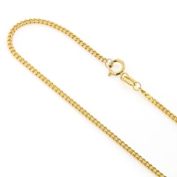 14K Yellow Gold Miami Cuban Link Curb Chain 1.5mm for Men