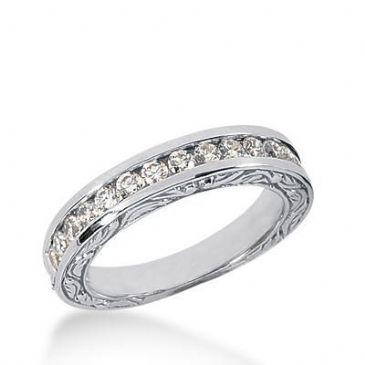 14k Gold Diamond Anniversary Wedding Ring 15 Round Brilliant Diamonds Total 0.53ctw 581WR232114k