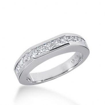 14k Gold Diamond Anniversary Wedding Ring 14 Princess Cut Diamonds Total 0.98ctw 582WR232614k