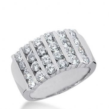 14k Gold Diamond Anniversary Wedding Ring 24 Round Brilliant Diamonds Total 1.92ctw 587WR233814k