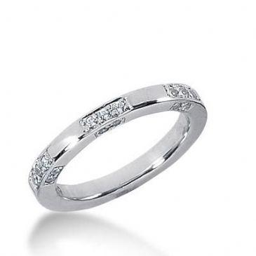 14k Gold Diamond Anniversary Wedding Ring 21 Round Brilliant Diamonds Total 0.53ctw 591WR234414k