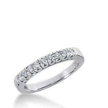 14k Gold Diamond Anniversary Wedding Ring 9 Round Brilliant Diamonds Total 0.14ctw 600WR235414k