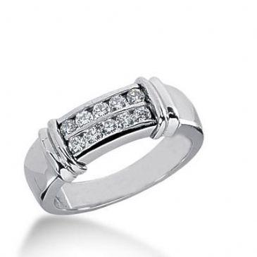 14k Gold Diamond Anniversary Wedding Ring 10 Round Brilliant Diamonds Total 0.30ctw 606WR236114k
