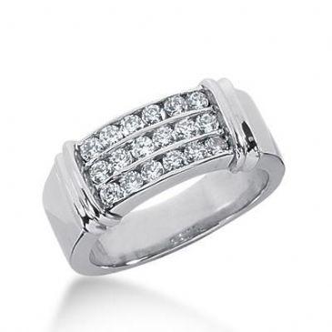 14k Gold Diamond Anniversary Wedding Ring 18 Round Brilliant Diamonds Total 0.45ctw 607WR236314k