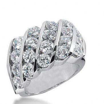 14k Gold Diamond Anniversary Wedding Ring 20 Round Brilliant Diamonds Total 4.00ctw 608WR236414k