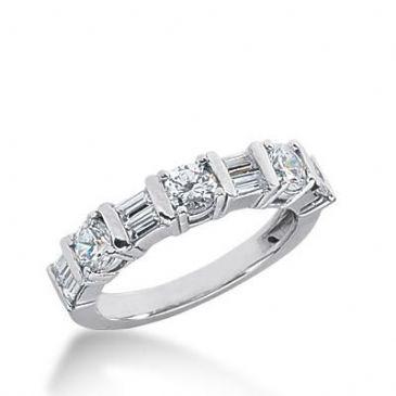 14k Gold Diamond Anniversary Wedding Ring 8 Straight Baguette Diamonds Total 1.00ctw 613WR237414k