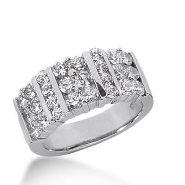 14K Gold Diamond Anniversary Wedding Ring 26 Round Brilliant Diamonds Total 1.62ctw 624WR239614k