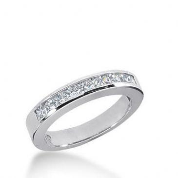 14K Gold Diamond Anniversary Wedding Ring 10 Princess Cut Diamonds Total 0.50ctw 635WR241414k