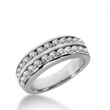 14K Gold Diamond Anniversary Wedding Ring 24 Round Brilliant Diamonds Total 0.96ctw 640WR242214k
