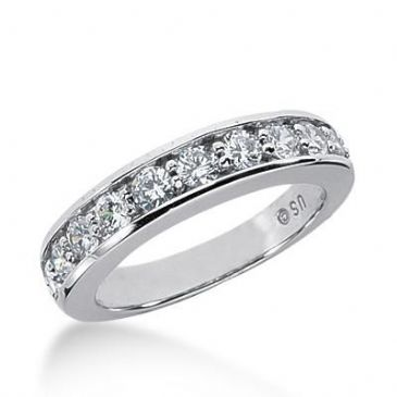 14K Gold Diamond Anniversary Wedding Ring 10 Round Brilliant Diamonds Total 1.00ctw 643WR242614k