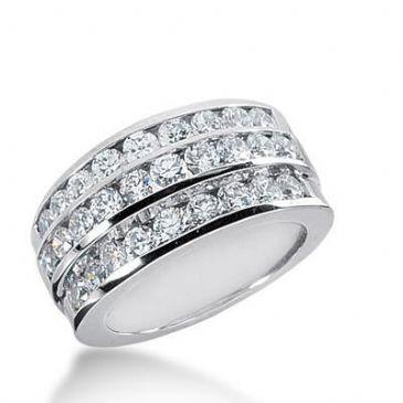 14K Gold Diamond Anniversary Wedding Ring 28 Round Brilliant Diamonds Total 1.58ctw 644WR242814k