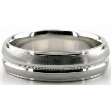 18K Gold 6mm Diamond Cut Wedding Band 645